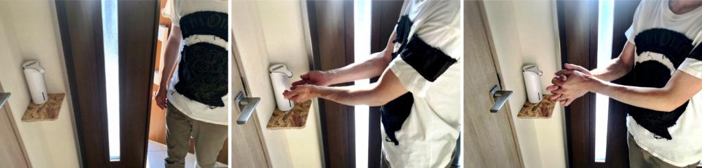 アルコールディスペンサー 自動手指消毒器